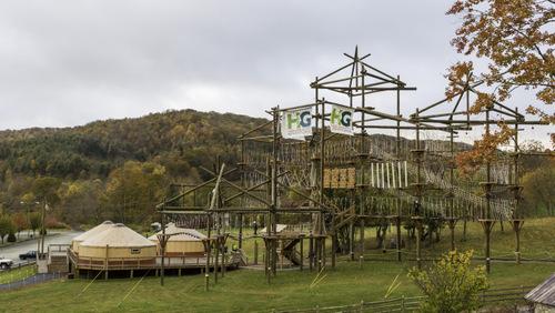 Arial adventure park.