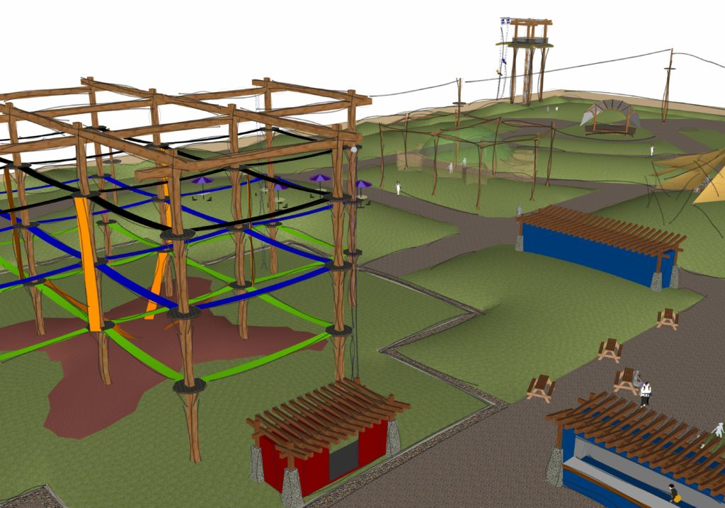 Custom course rendering, challenge course with features.