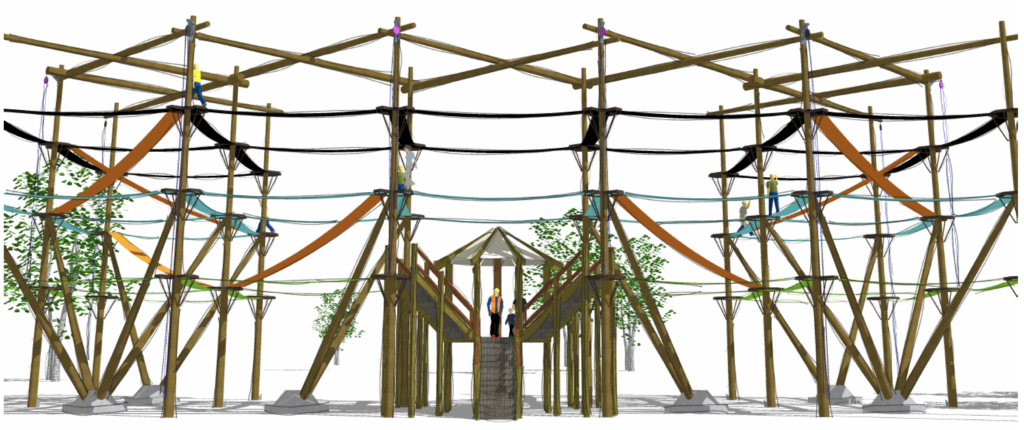 Challenge course blue print drawing.