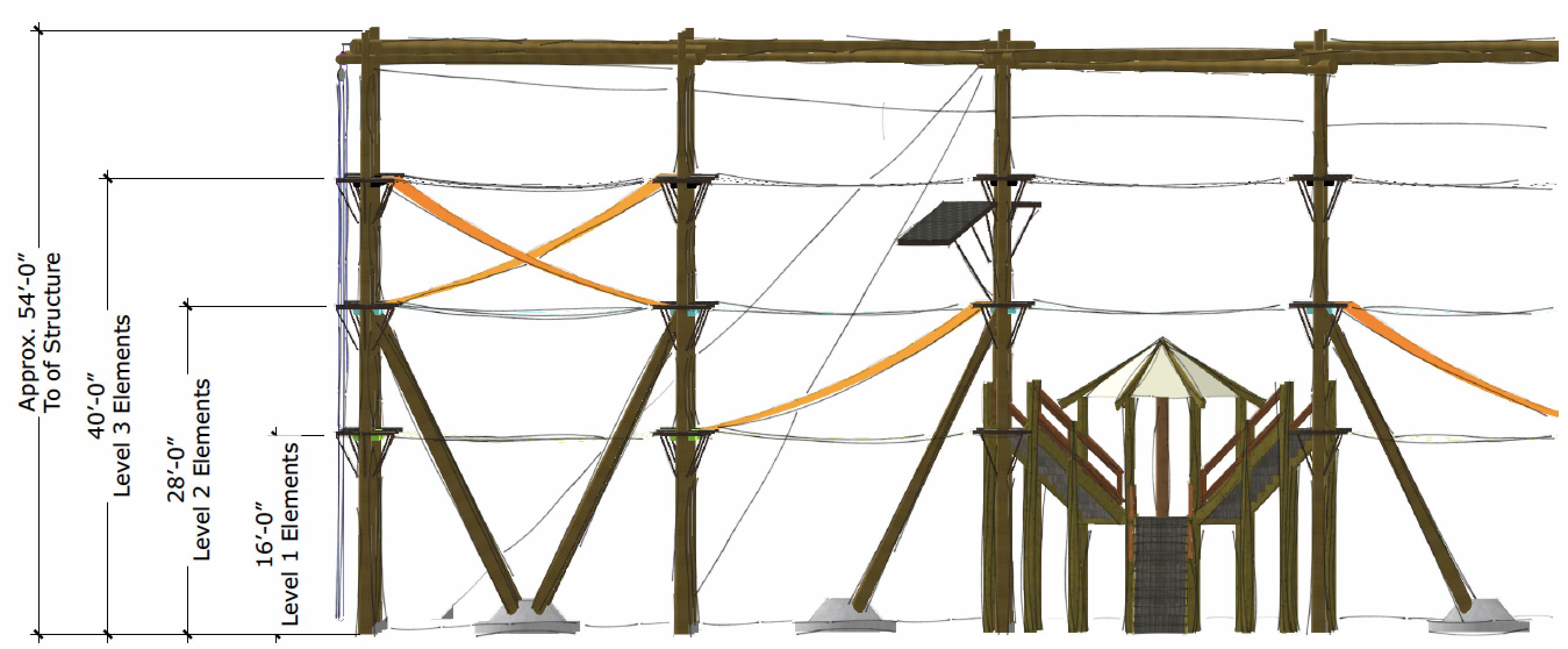 Westpark blueprint with measurements.