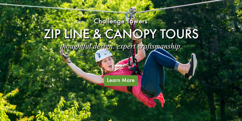 Zip line ad.