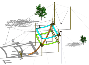 Rendering of the Endeaav or Series challenge course, aerial view