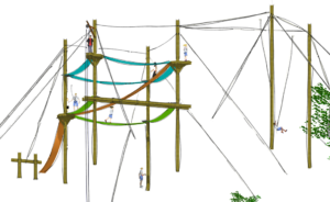 Alternate view of the Endeavor Series challenge course from Challenge Towers